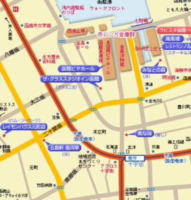 函館ベイエリアマップ