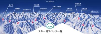 白馬スキー場マップ
